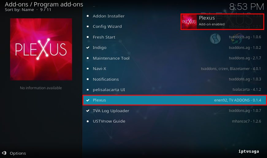 kodi-install-plexus-addon-enabled