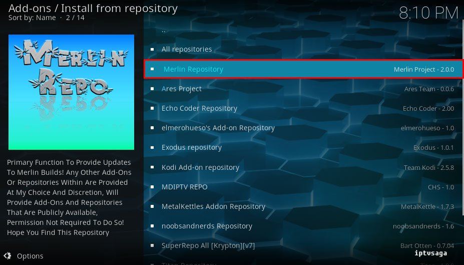 how to find repository on kodi